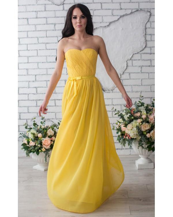 Желтое платье на выпускной купить в интернет-магазине Роял-бутик ... 49f803d883b50