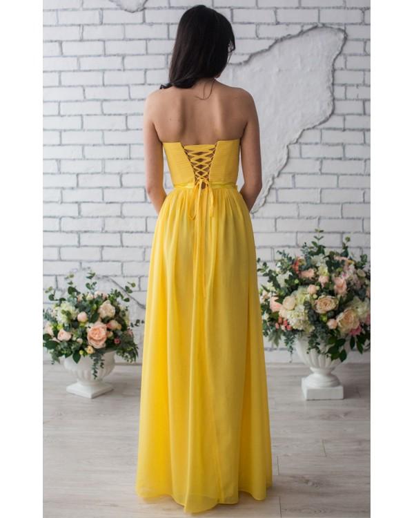 d76d90d7dbb Желтое платье на выпускной купить в интернет-магазине Роял-бутик ...