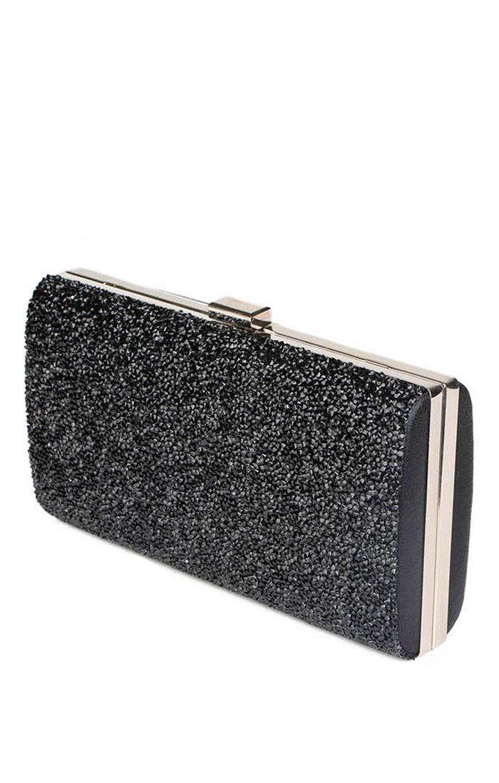 b27988e38903 Элегантный клатч черного цвета купить в интернет-магазине Роял-бутик -  Аксессуары с доставкой по Украине