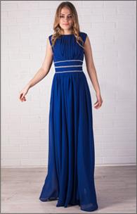 Купить вечернее платье с камнями по талии оптом от производителя