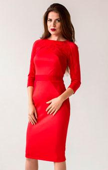 Красное деловое платье 2017