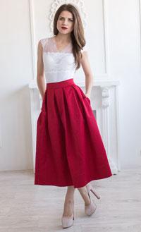 df5dfe8223d С чем носить юбку миди
