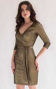 Фото коктейльного блестящего платья на новый год 2019