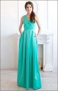 Купить вечернее коттоновое платье с карманами оптом от производителя