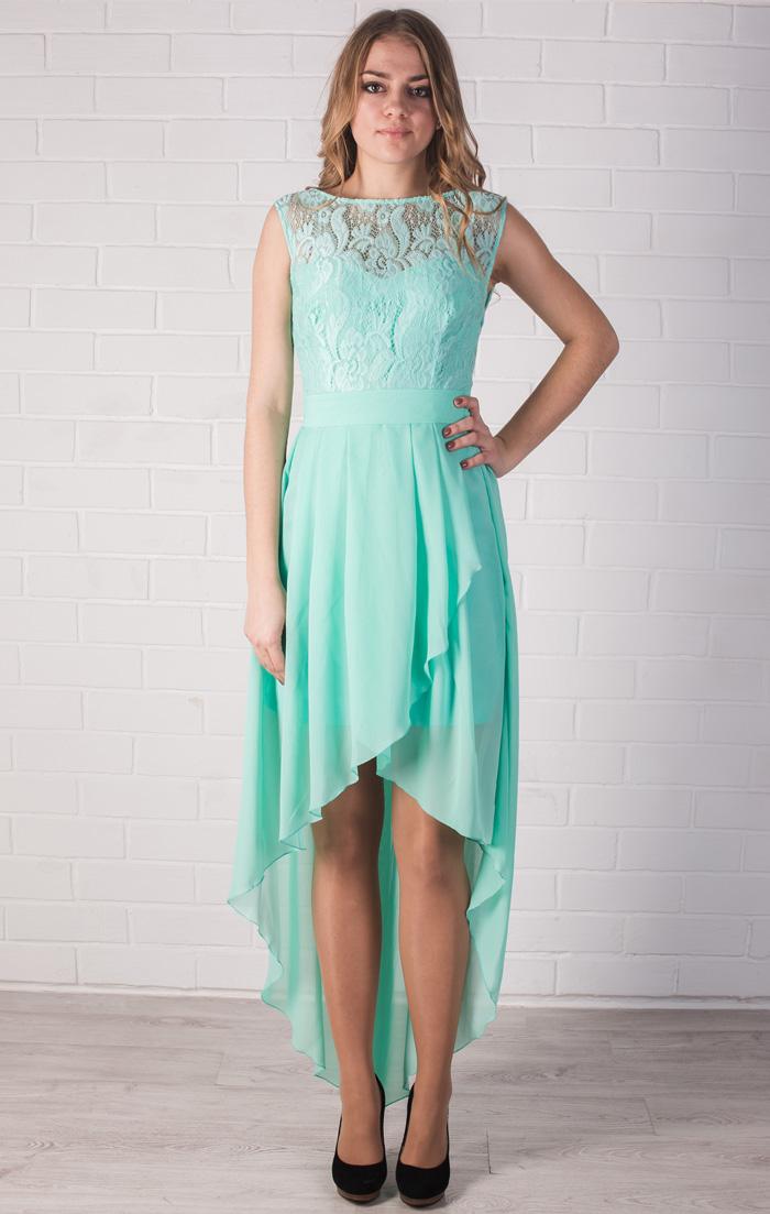 Платье с ассиметричной юбкой фото