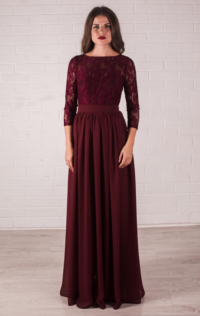 Платье В Пол Марсала Купить
