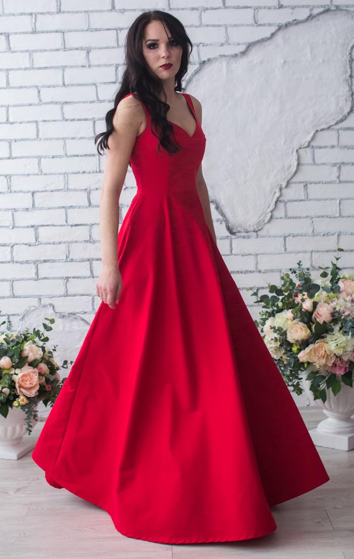 Красное платье вечернее 2017-2018