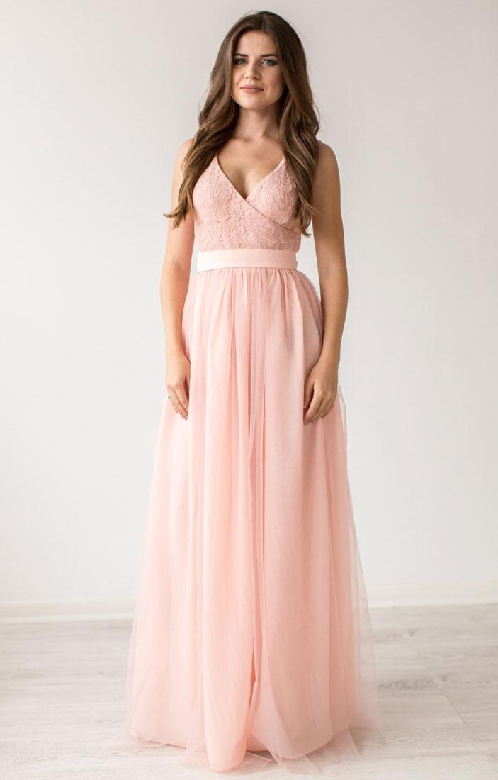 18199f85cc7 Нежно розовое вечернее платье купить в интернет-магазине Роял-бутик -  Вечерние платья с доставкой по Украине
