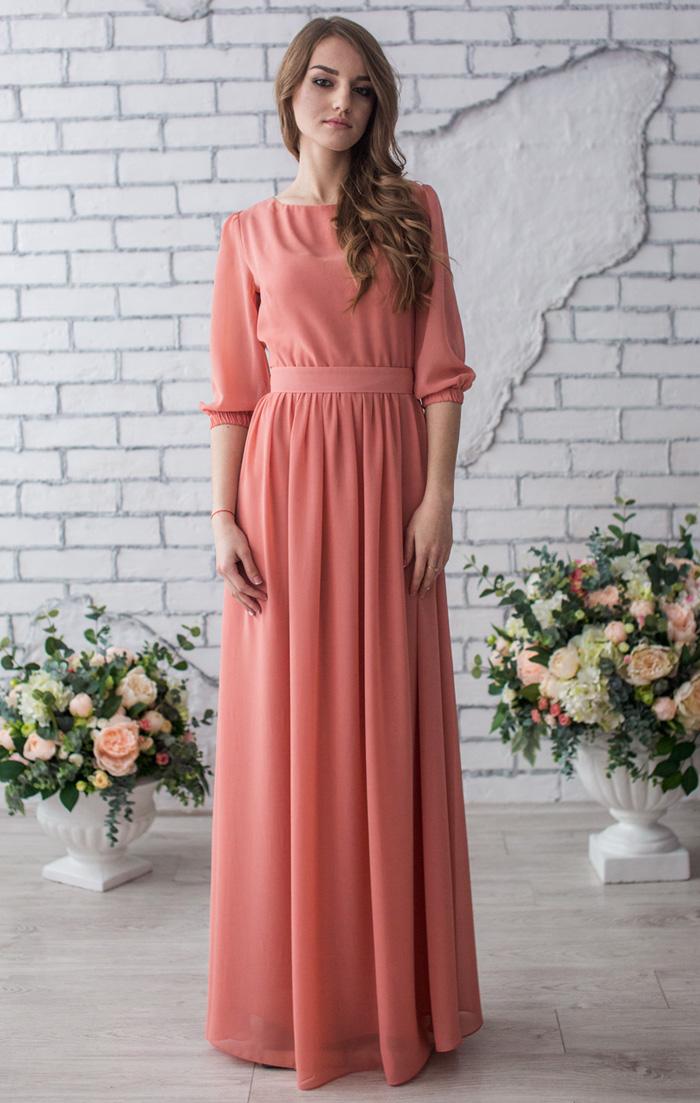 Длинное платье в пол заказать