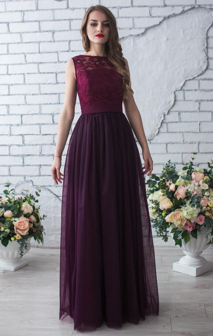 Платье Цвета Марсала Купить В Москве