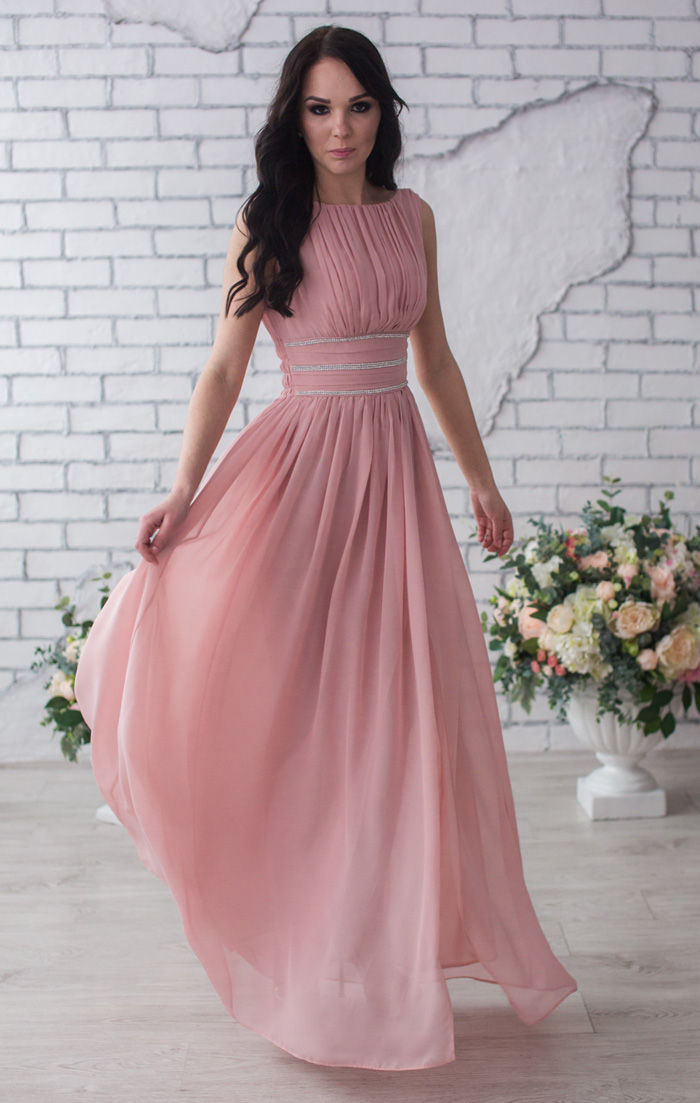 c5b481a255c9 Вечернее платье розовый кварц купить в интернет-магазине Роял-бутик - Вечерние  платья с доставкой по Украине