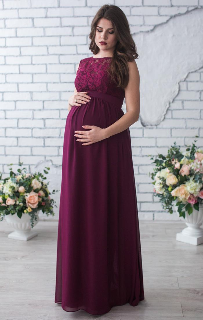 Платья для беременных цвета марсала 67