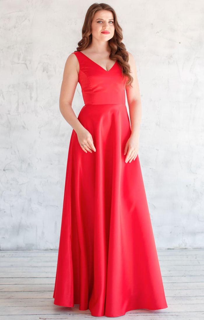 Атласное платье доставка