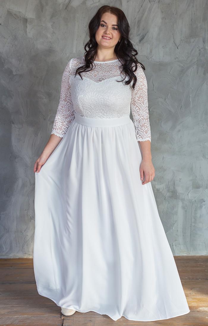 51ff61ca8e4 Платье для росписи size+ купить в интернет-магазине Роял-бутик - Платья на  роспись с доставкой по Украине