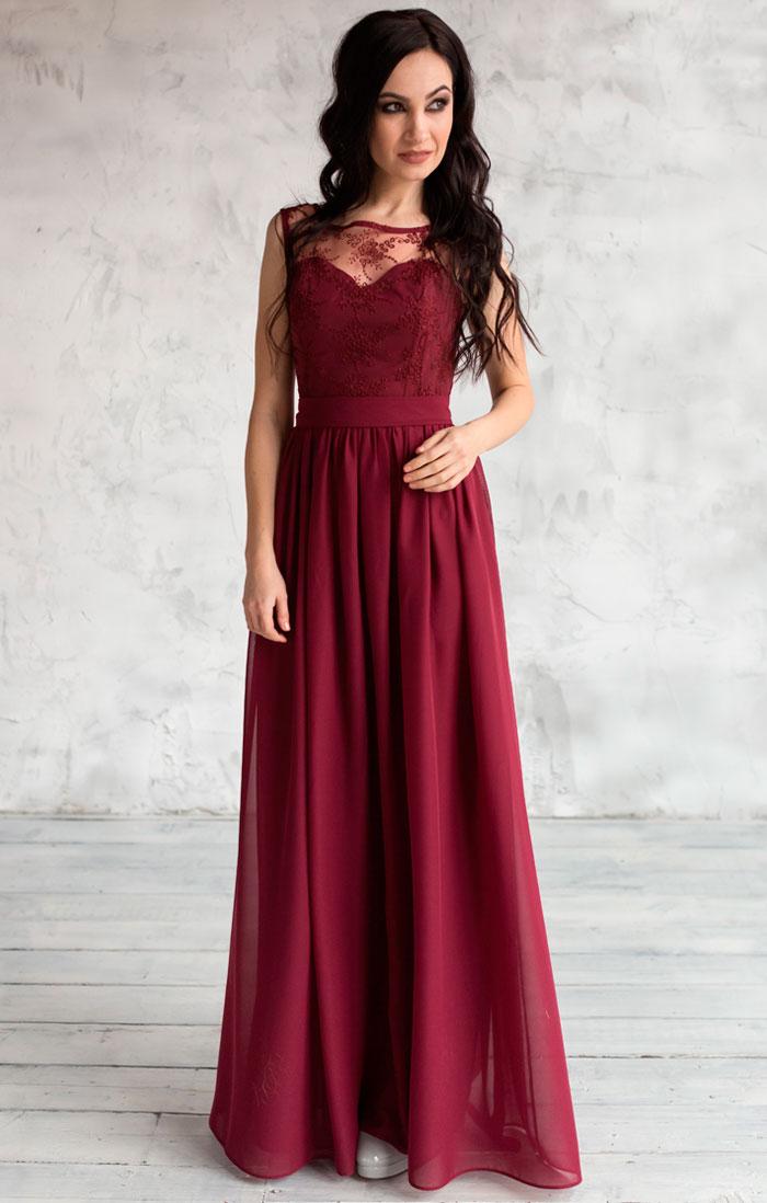 Купить Вечернее Платье Бордовое