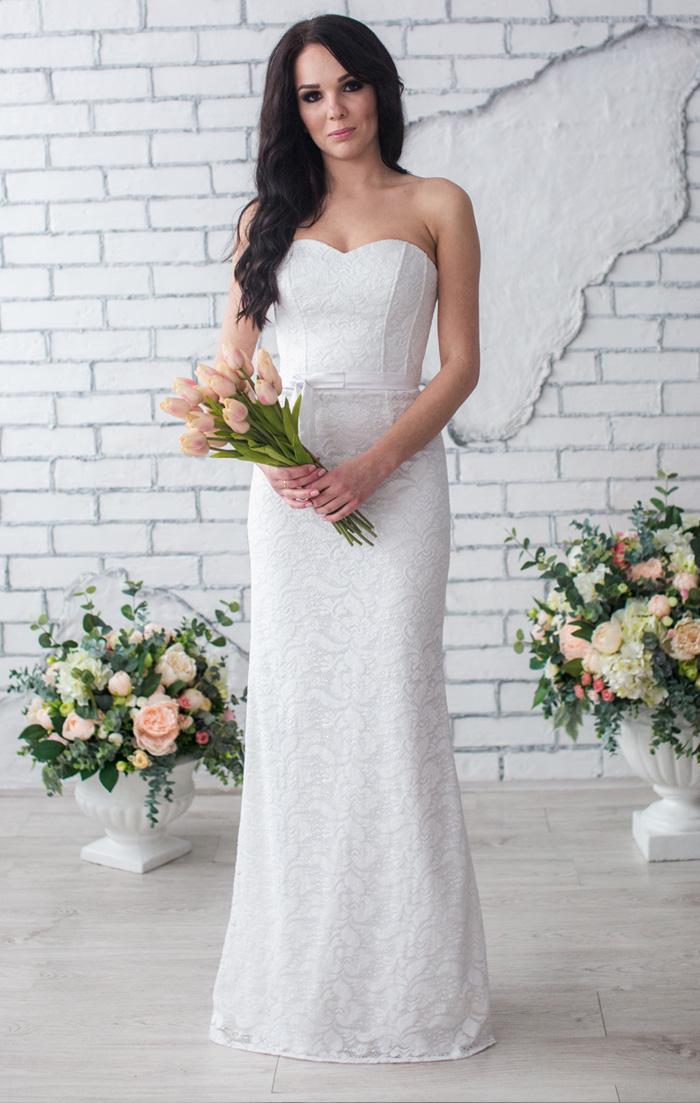 Купить белое свадебное платье недорого