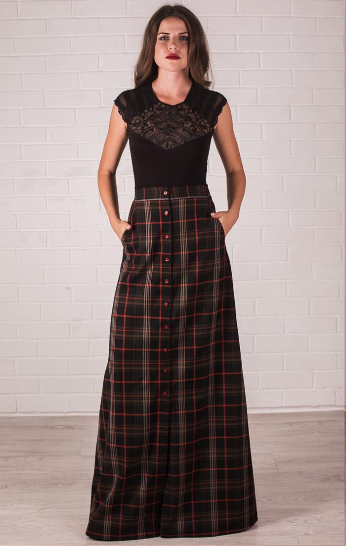 Расклешенная юбка с завышенной талией доставка